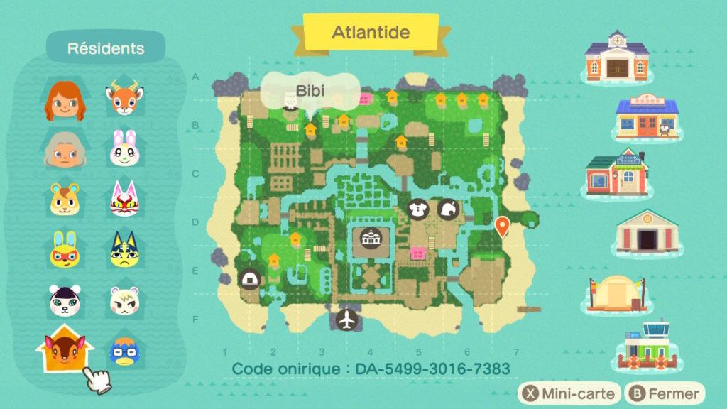 Map Atlantide naturel