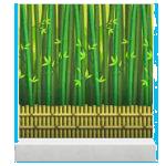 acnh mur forêt de bambou