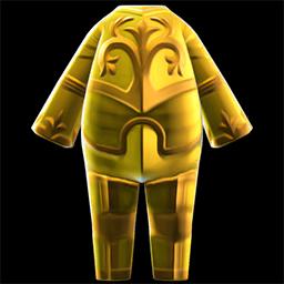 acnh armure en or