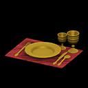 acnh vaisselle d'or
