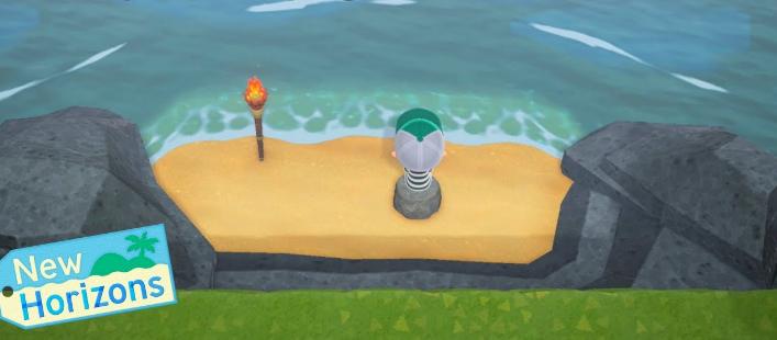 acnh plage secrète