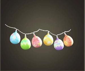 acnh guirlande fête des œufs