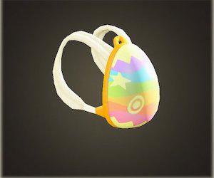 acnh sac à dos fête des œufs